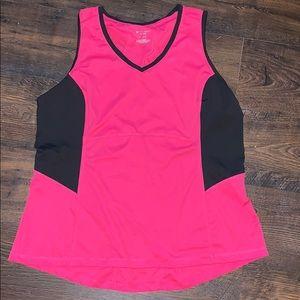 1X pink/black workout tank